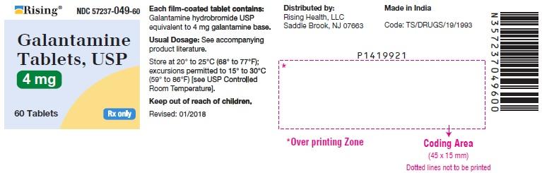 PACKAGE LABEL-PRINCIPAL DISPLAY PANEL - 4 mg (60 Tablets Bottle)
