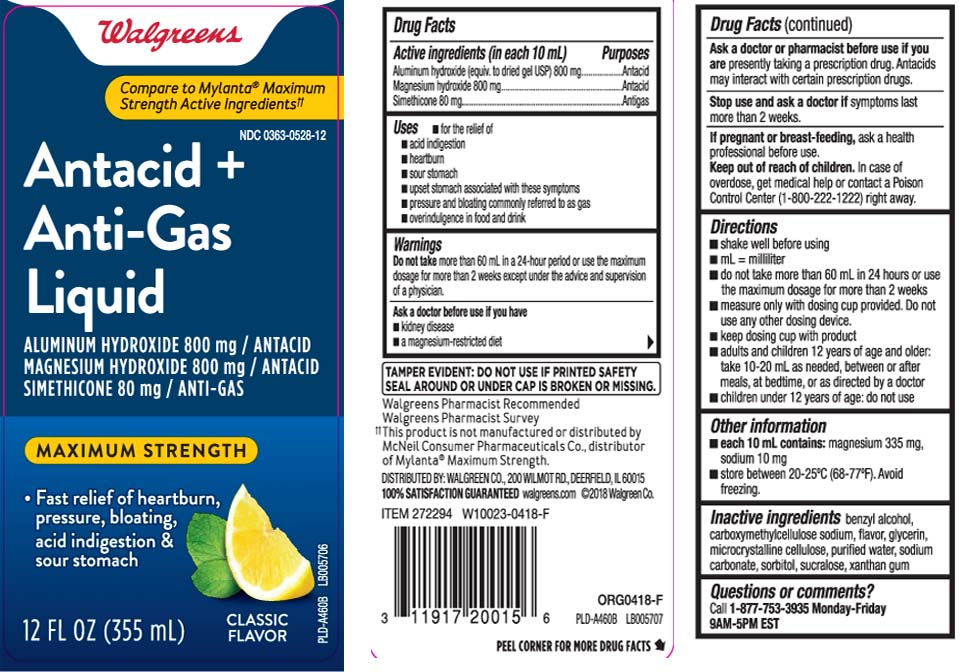 Aluminum hydroxide (equiv. to dried gel USP) 800 mg, Magnesium hydroxide 800 mg, Simethicone 80 mg