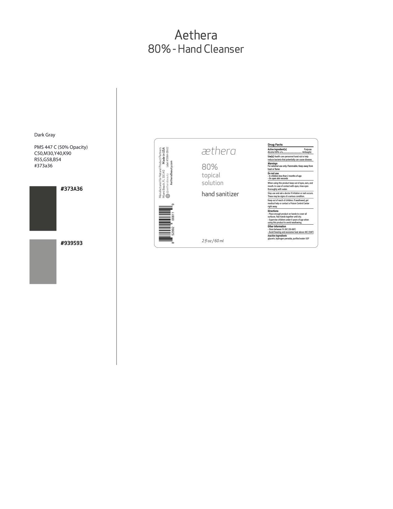 Aethera Label Version 3