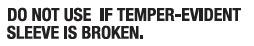 Temper Evident Statement