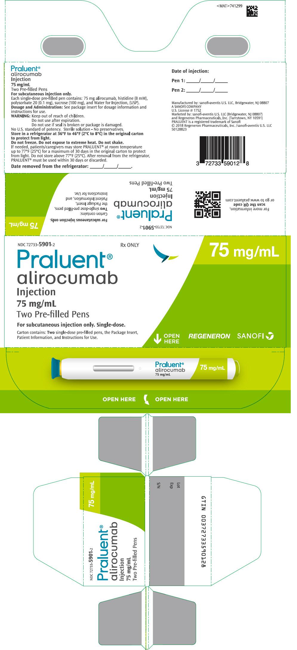 PRINCIPAL DISPLAY PANEL - 75 mg/mL Pen Carton