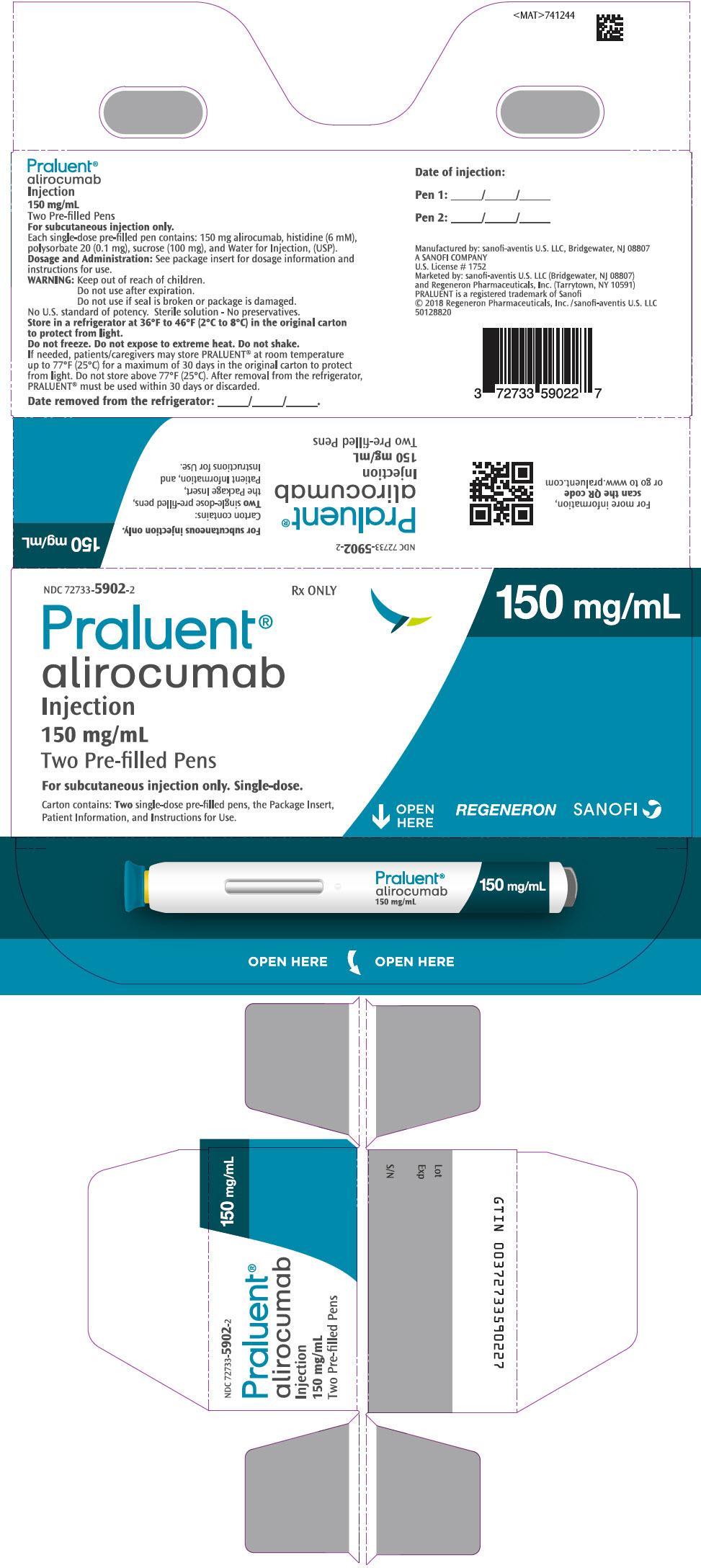 PRINCIPAL DISPLAY PANEL - 150 mg/mL Pen Carton