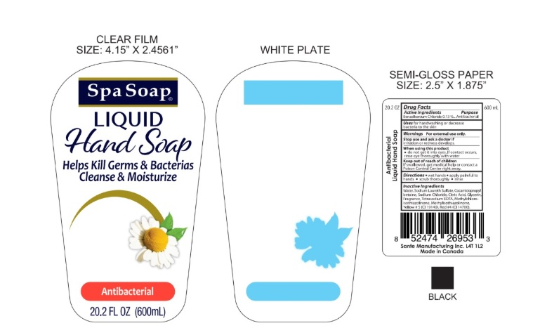 spa soap liquid600