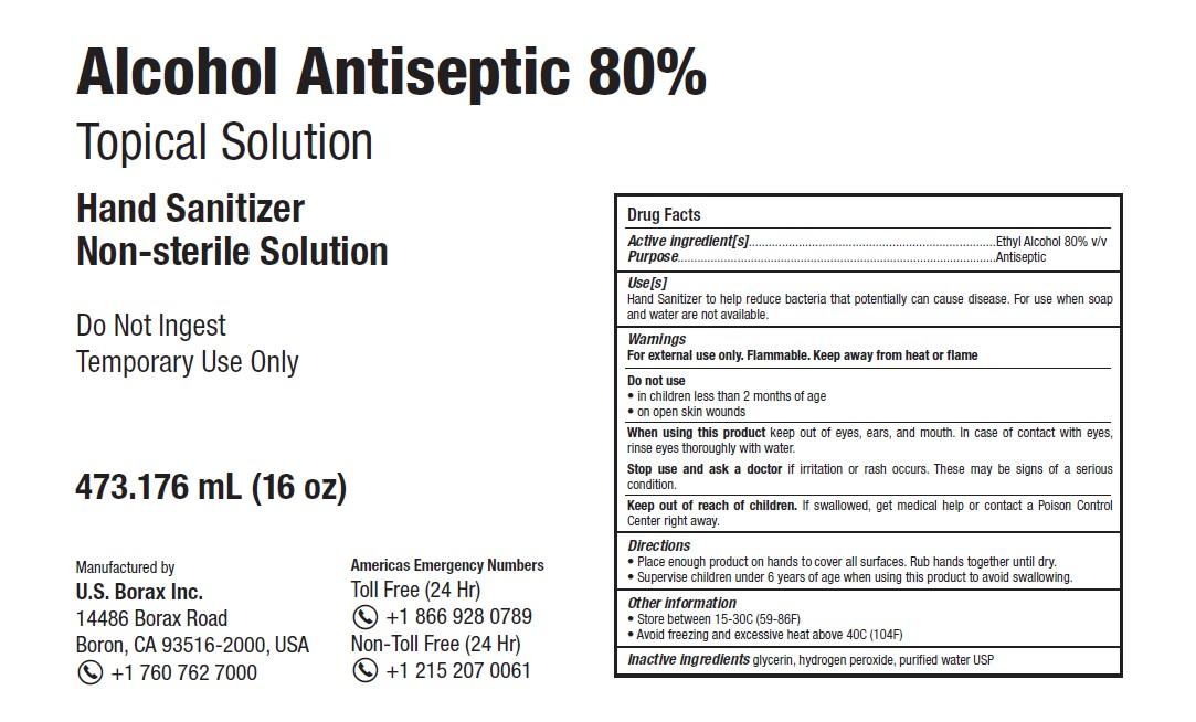 RTB Hand Sanitizer label 16oz