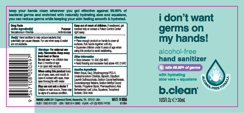 B.CLEAN HAND SANITIZER (FOAM)- alcohol gel