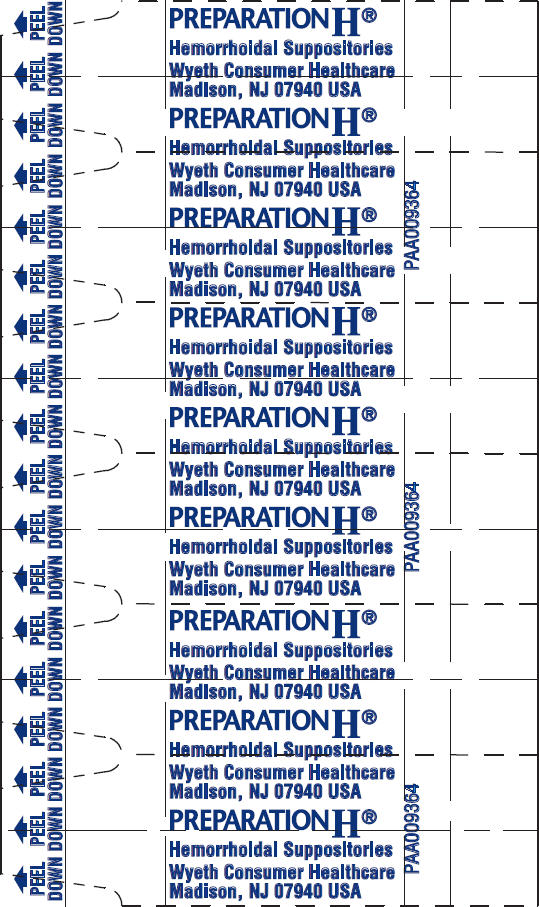 Principal Display Panel - 12 Suppository Blister Pack
