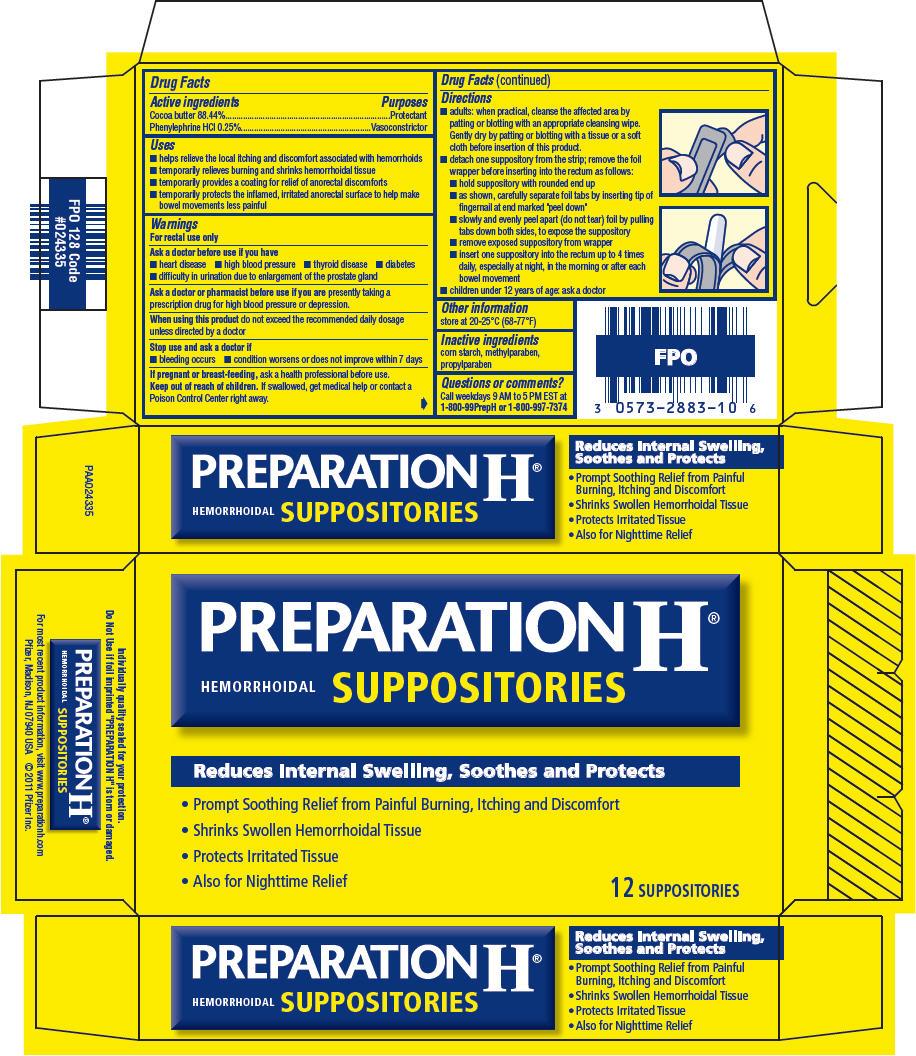 Principal Display Panel - 12 Suppository Blister Pack Carton