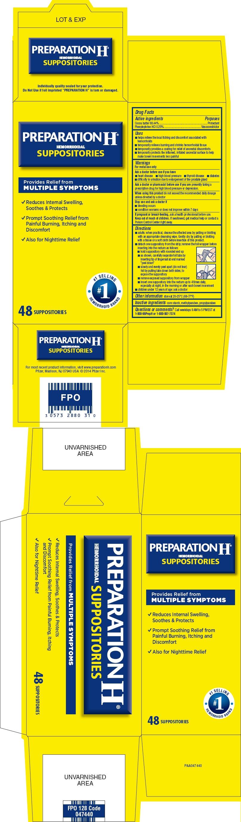 Principal Display Panel - 48 Suppository Blister Pack Carton