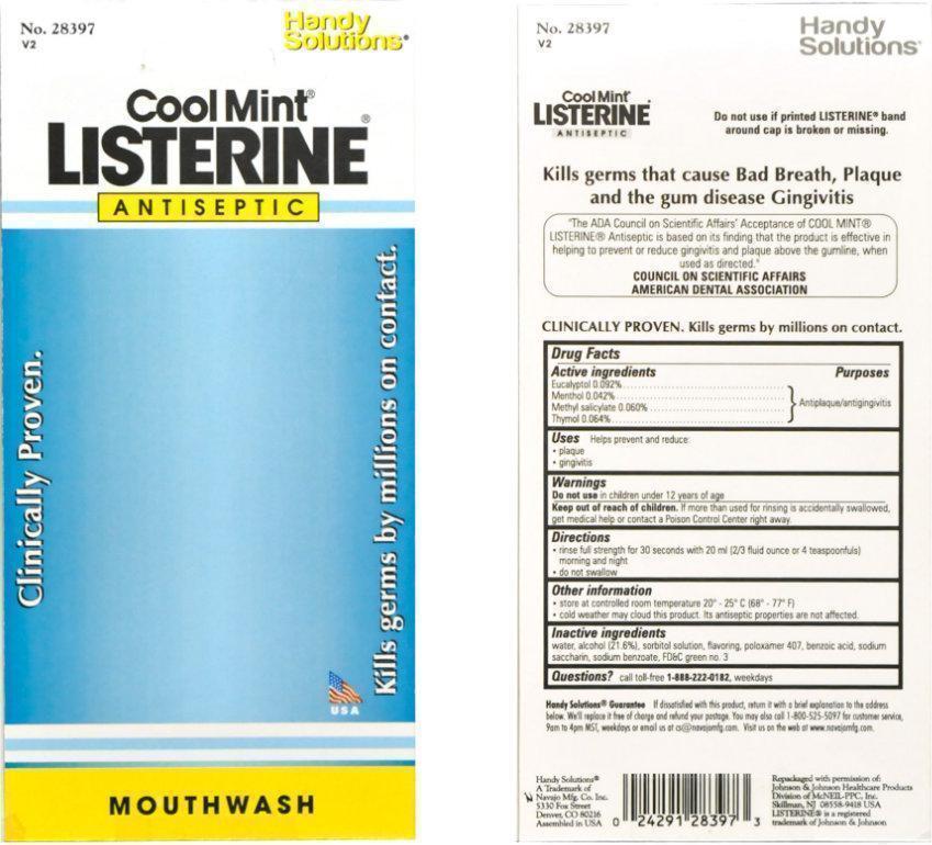 Cool Mint Listerine Label