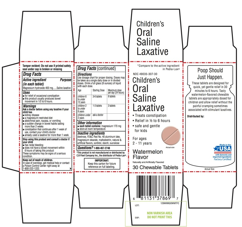 Childrens Oral Saline Laxative 30 Chewable Tablets