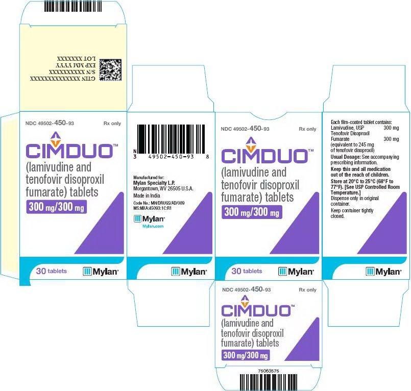 CIMDUO 300 mg/300 mg Carton Label