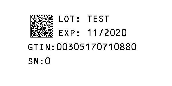 Serialization Label for Novaplus
