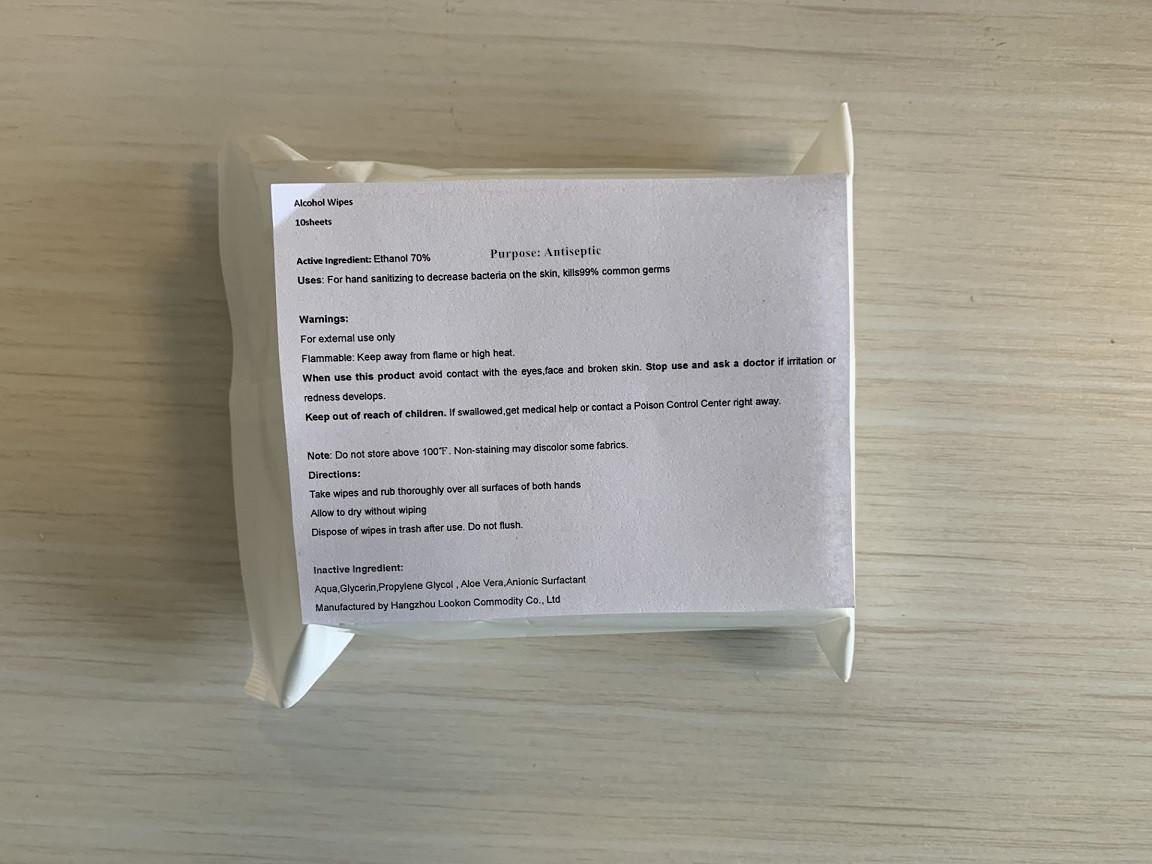 10 in bag label