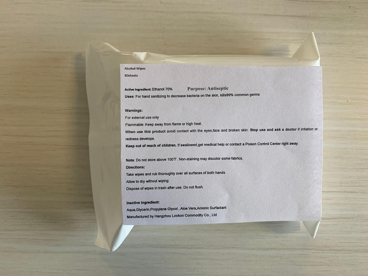 80 in bag label