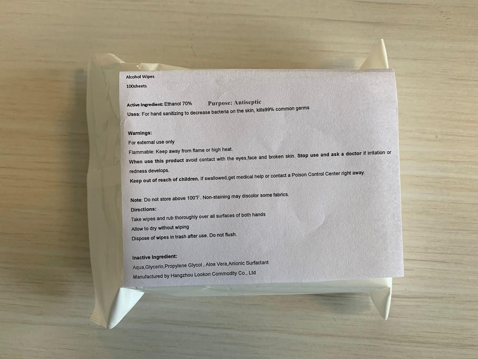100 in bag label