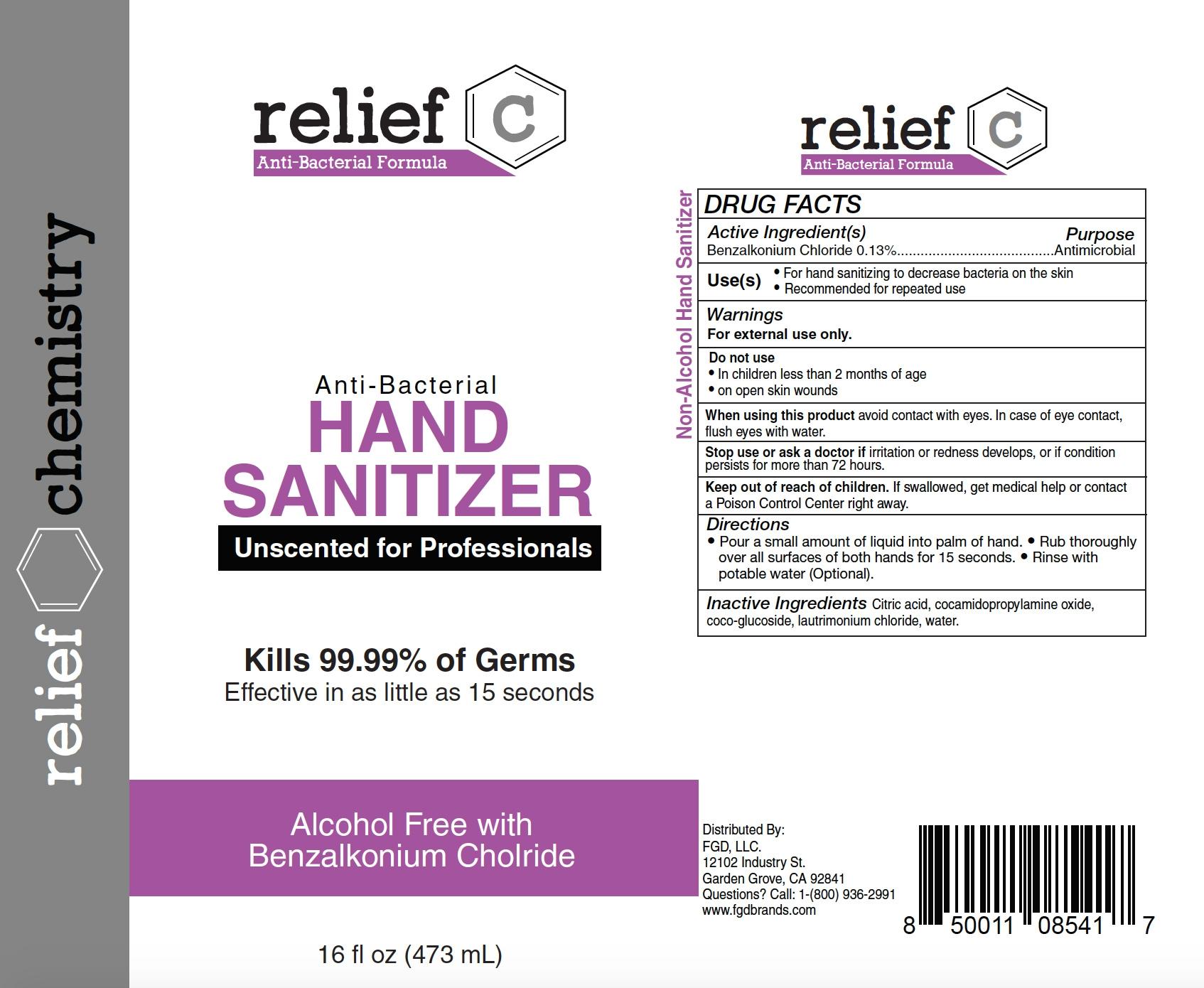 relief c hand sanitizer 473ml