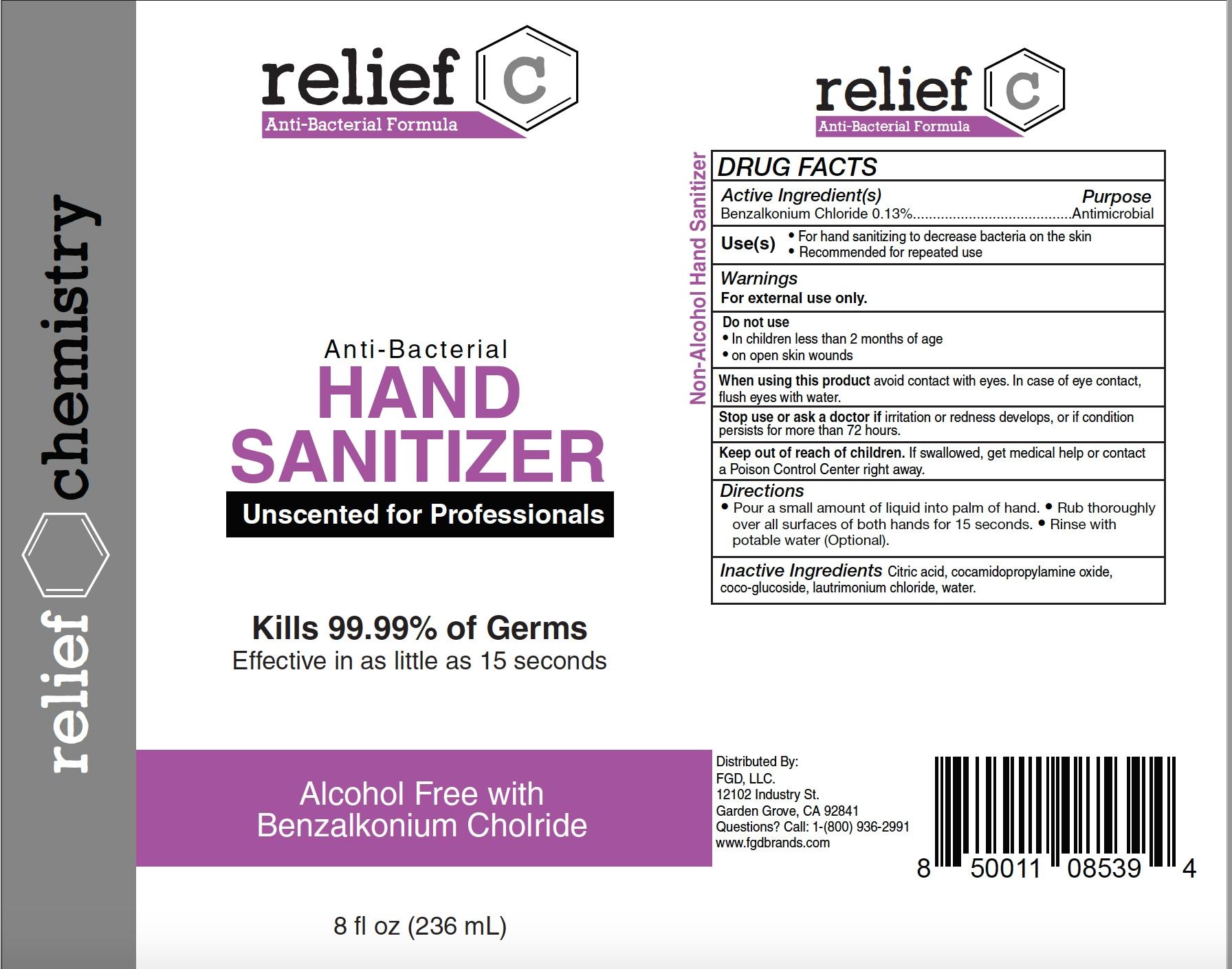 relief c hand sanitizer 236ml