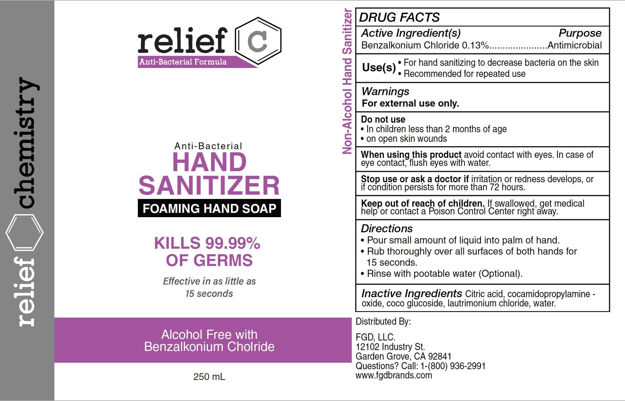 relief c hand sanitizer 250ml