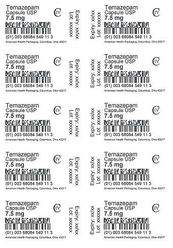 7.5 mg Temazepam Capsule Blister