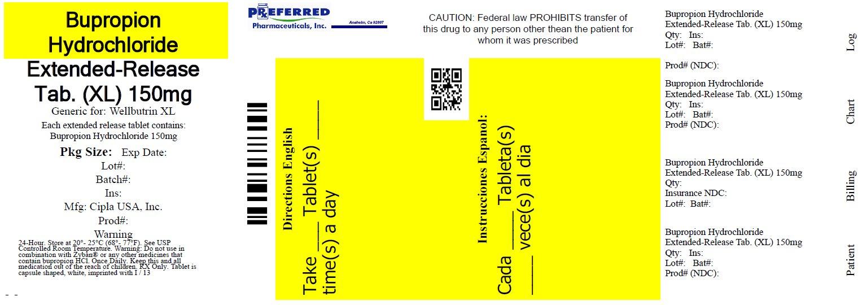 Bupropion Hydrochloride Extender-Release Tablet (XL) 150mg