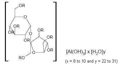 Structural formula for sucralfate