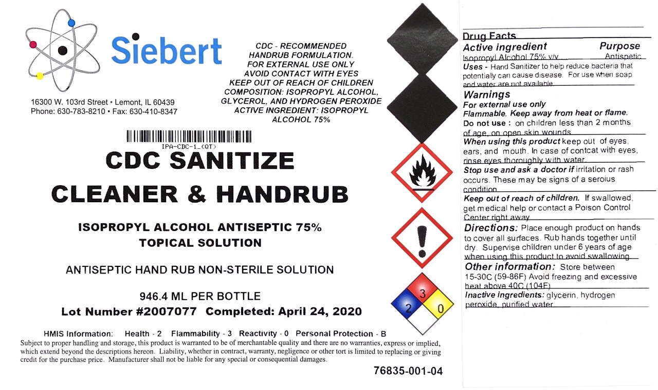 SIEBERT hand sanitizer 1 qt