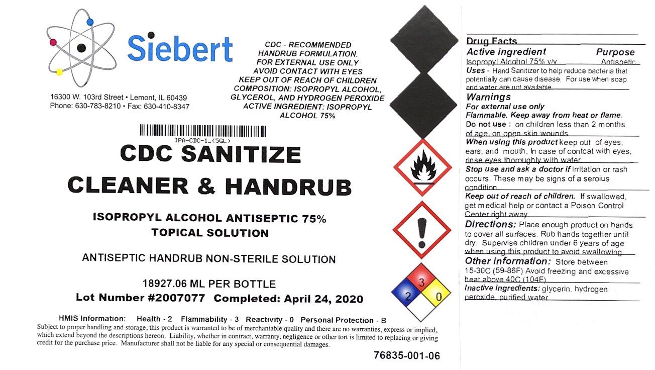 SIEBERT hand sanitizer 5 gal
