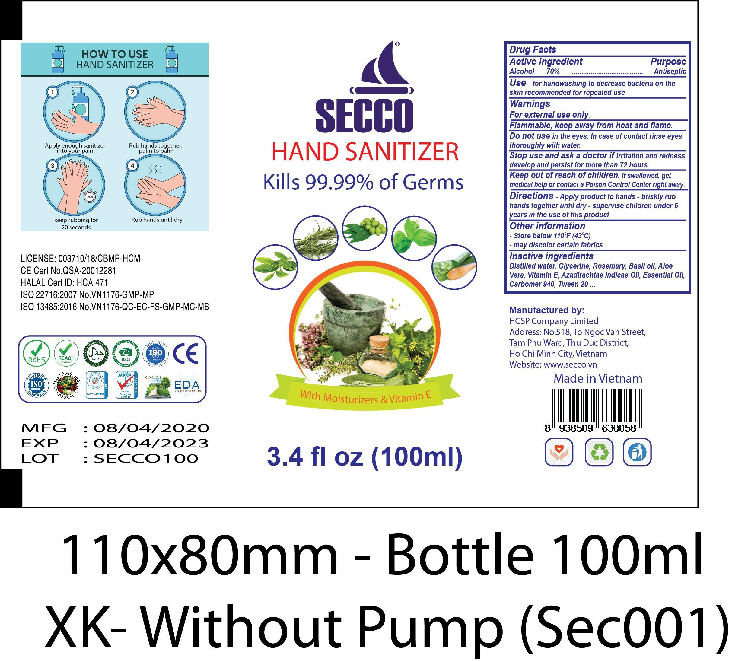 SECCO 100ML