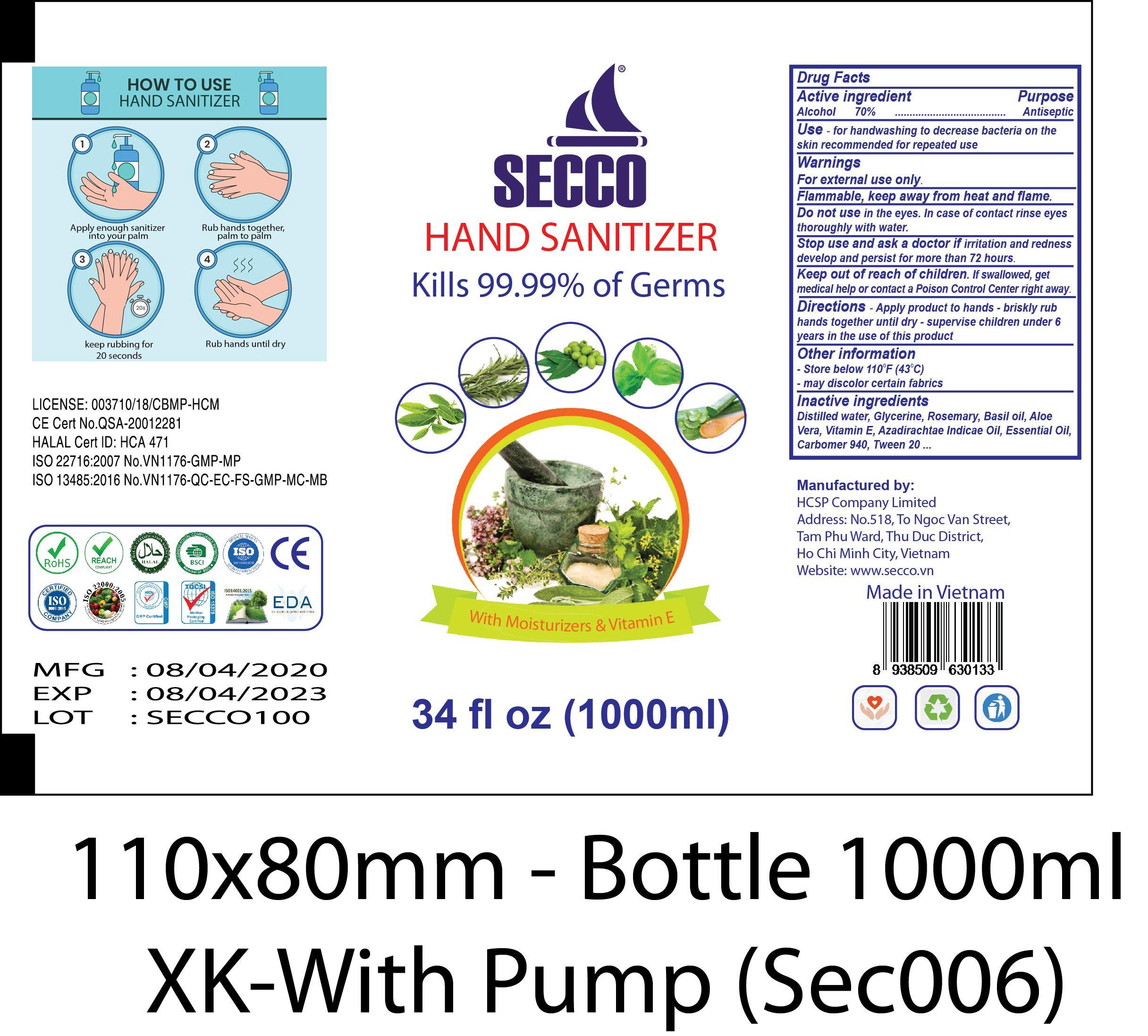 SECCO 1000ML