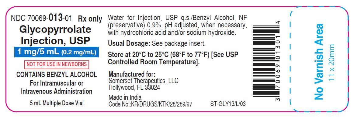 5 mL vial label