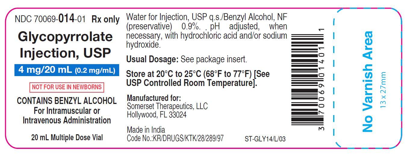 20 mL vial label