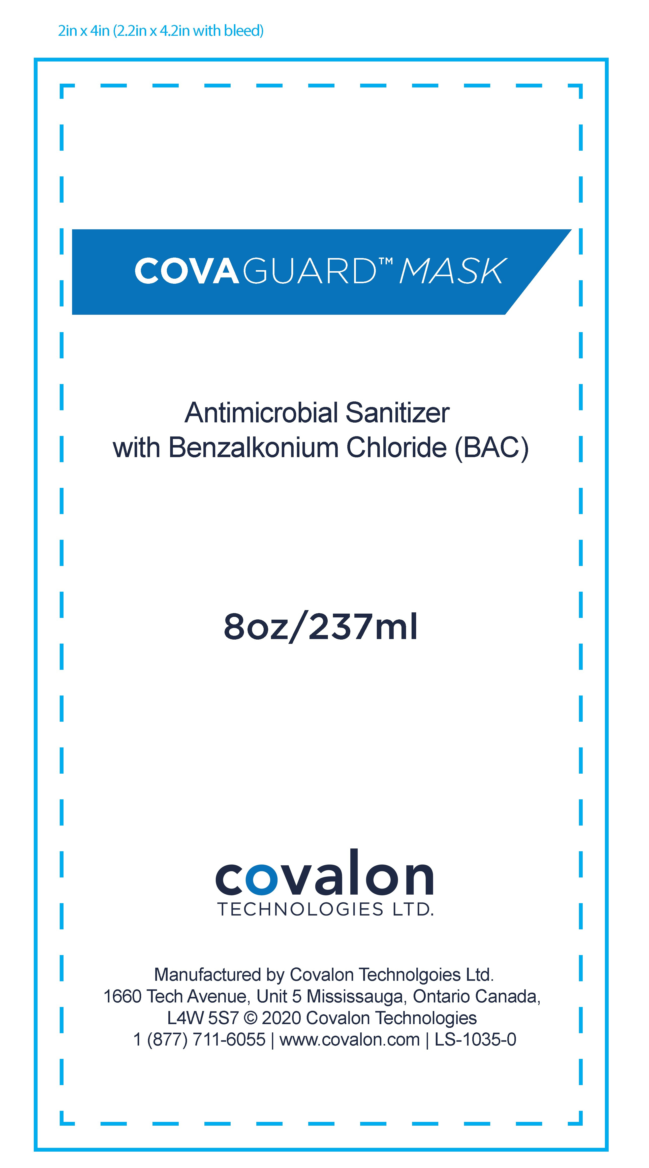 CovaGuard Mask Antimicrobial Sanitizer 237 mL Front