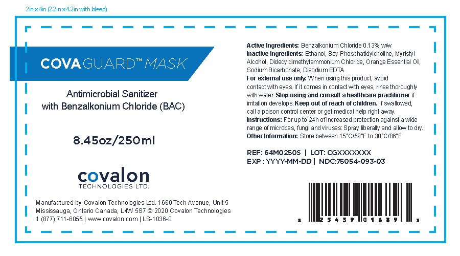 CovaGuard Mask Antimicrobial Sanitizer 250 mL