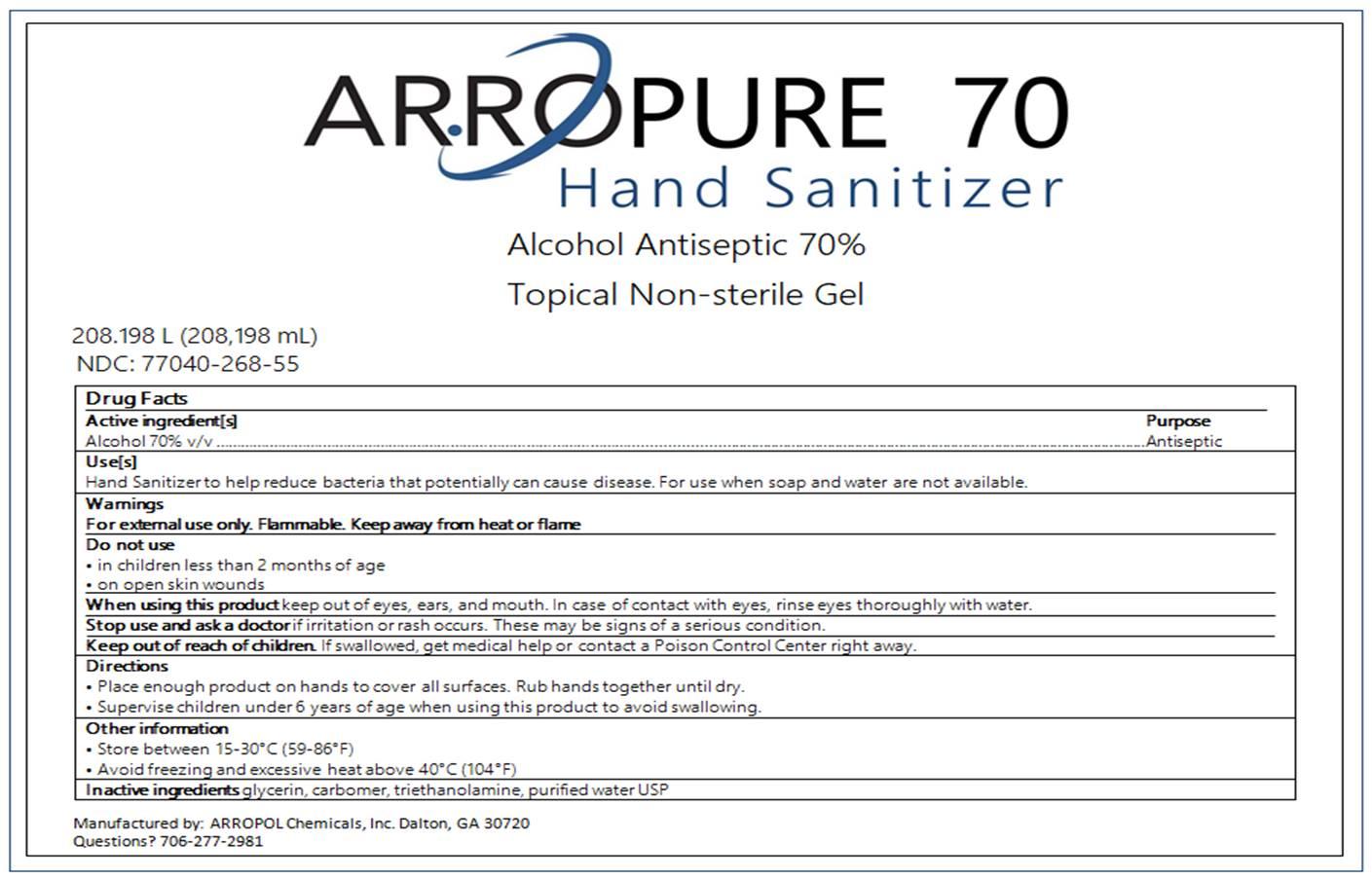 208198 ml label