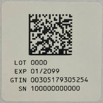Serialization Label (1 mL)
