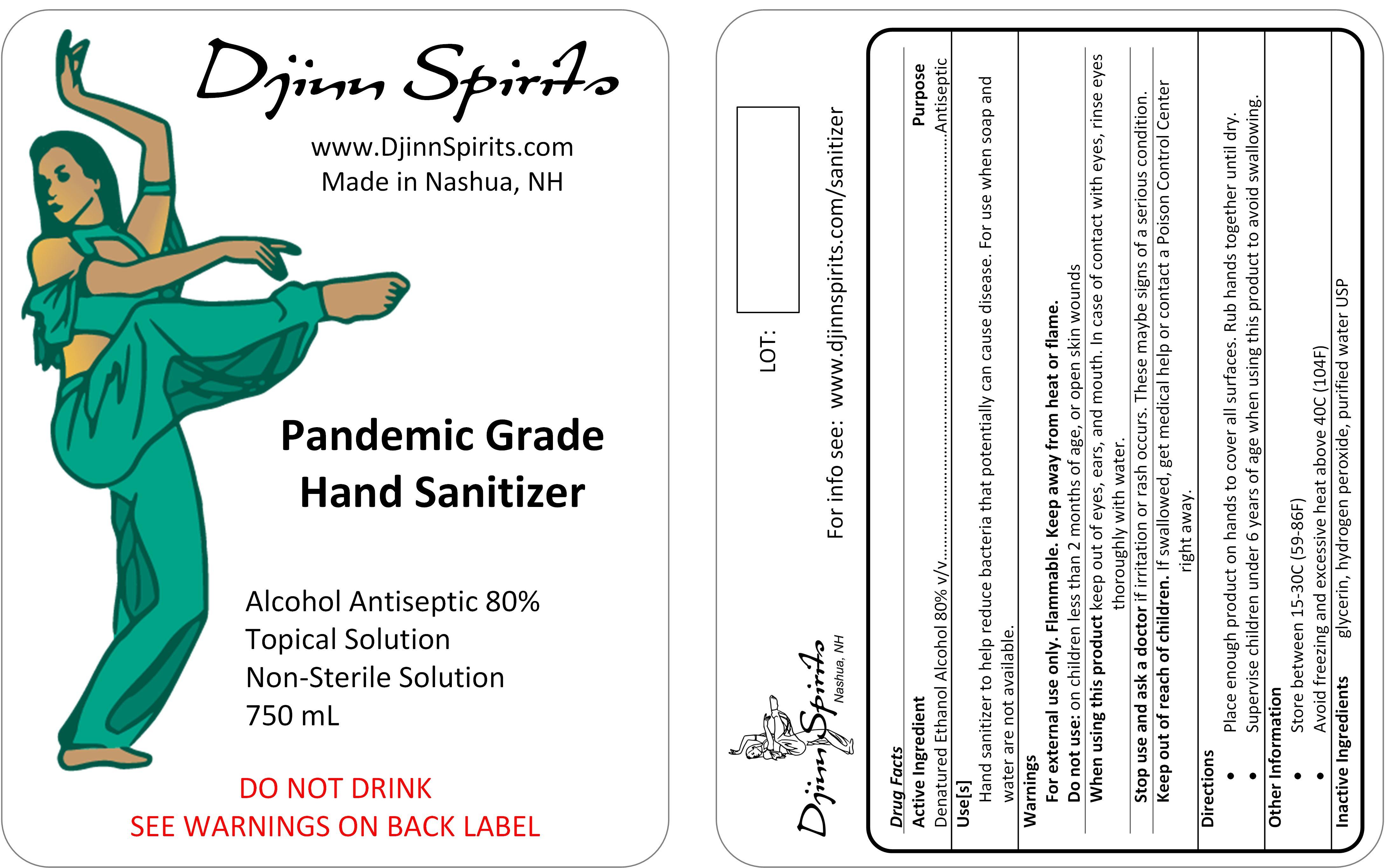 750 ml label