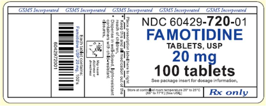 Label Graphic-Famotidine 20mg 100s