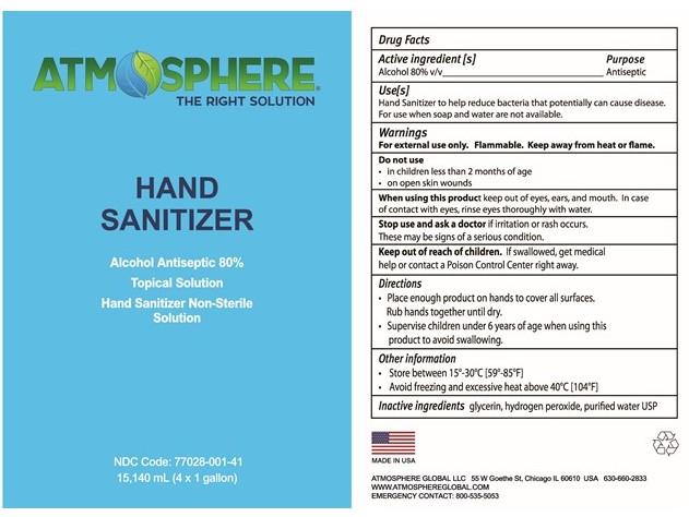 Hand sanitizer label 4x1g