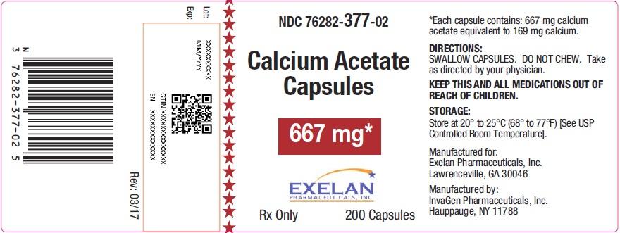 Calcium Acetate Carton Label