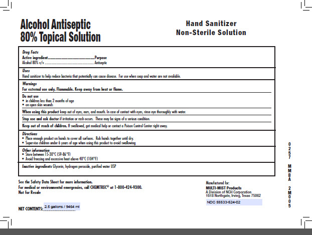 9464 ml Alcohol Antiseptic Topical Solution