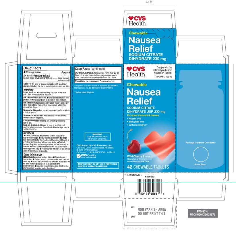 CVS Health Nausea Relief 42 Chewable Tablets