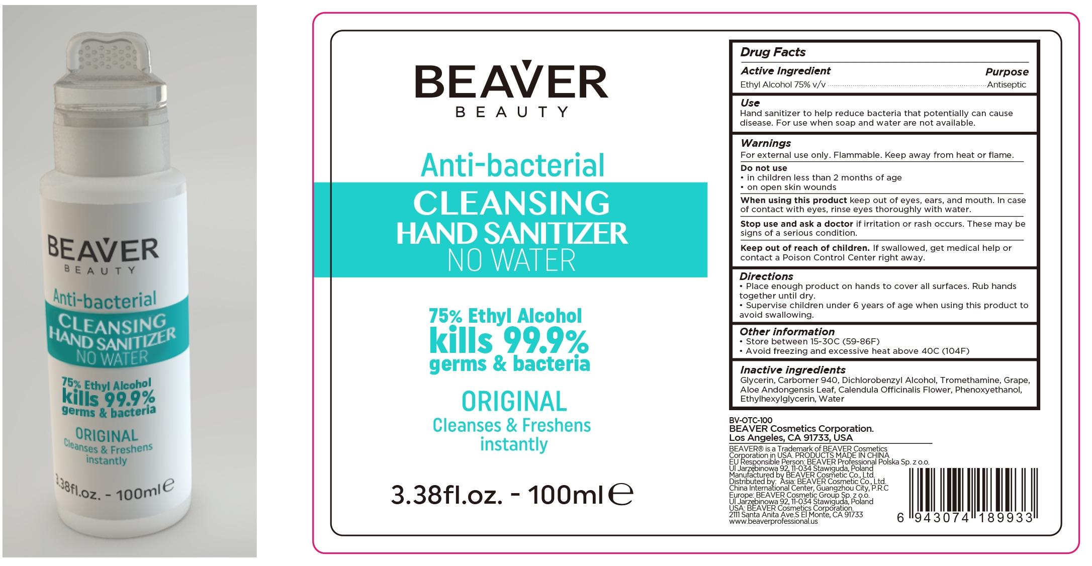 100 ml label