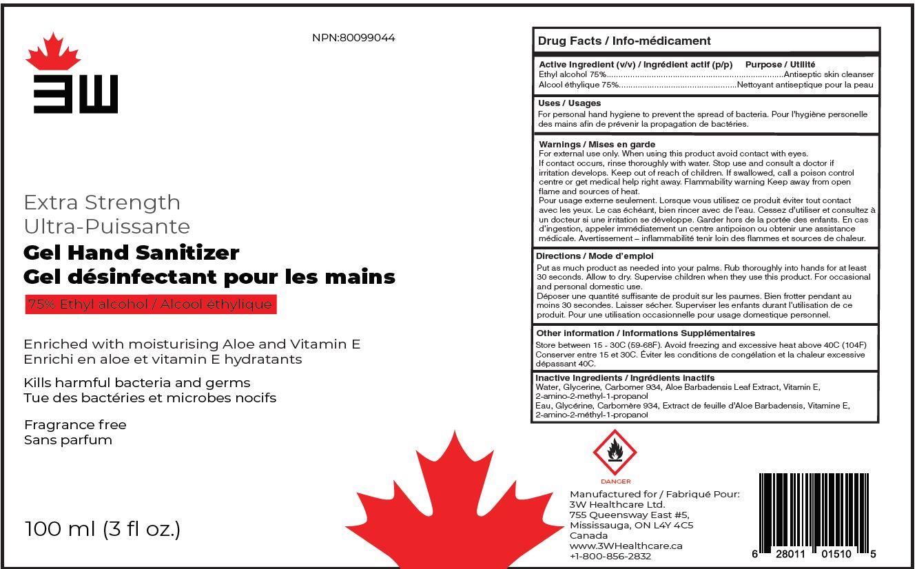 Label 3W Hand Sanitizer