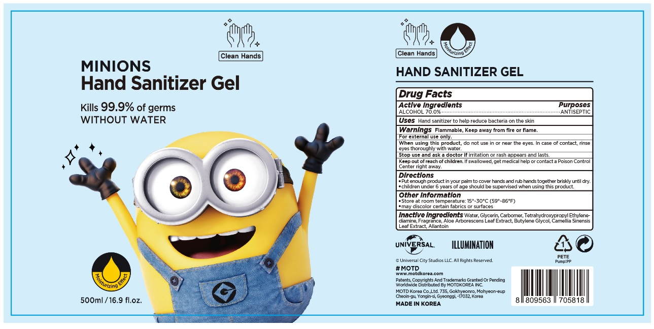 MINIONS HAND SANITIZER GEL 500 ml