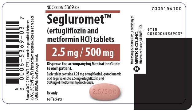 PRINCIPAL DISPLAY PANEL - 2.5 mg/500 mg Tablet Bottle Label