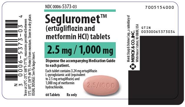 PRINCIPAL DISPLAY PANEL - 2.5 mg/1,000 mg Tablet Bottle Label