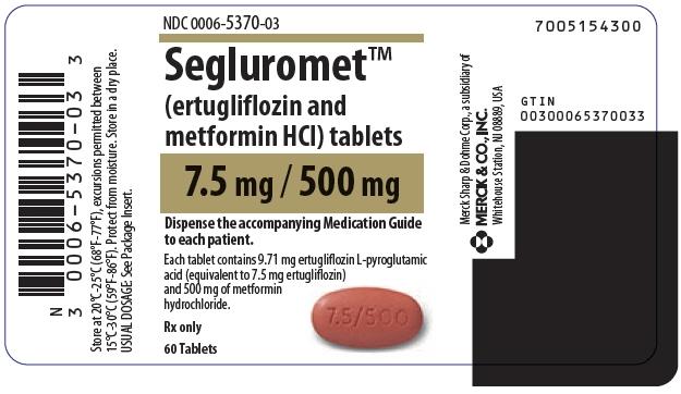 PRINCIPAL DISPLAY PANEL - 7.5 mg/500 mg Tablet Bottle Label