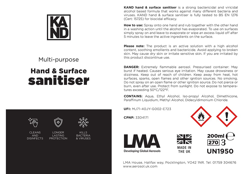 Kand Hand and Surface Sanitiser
