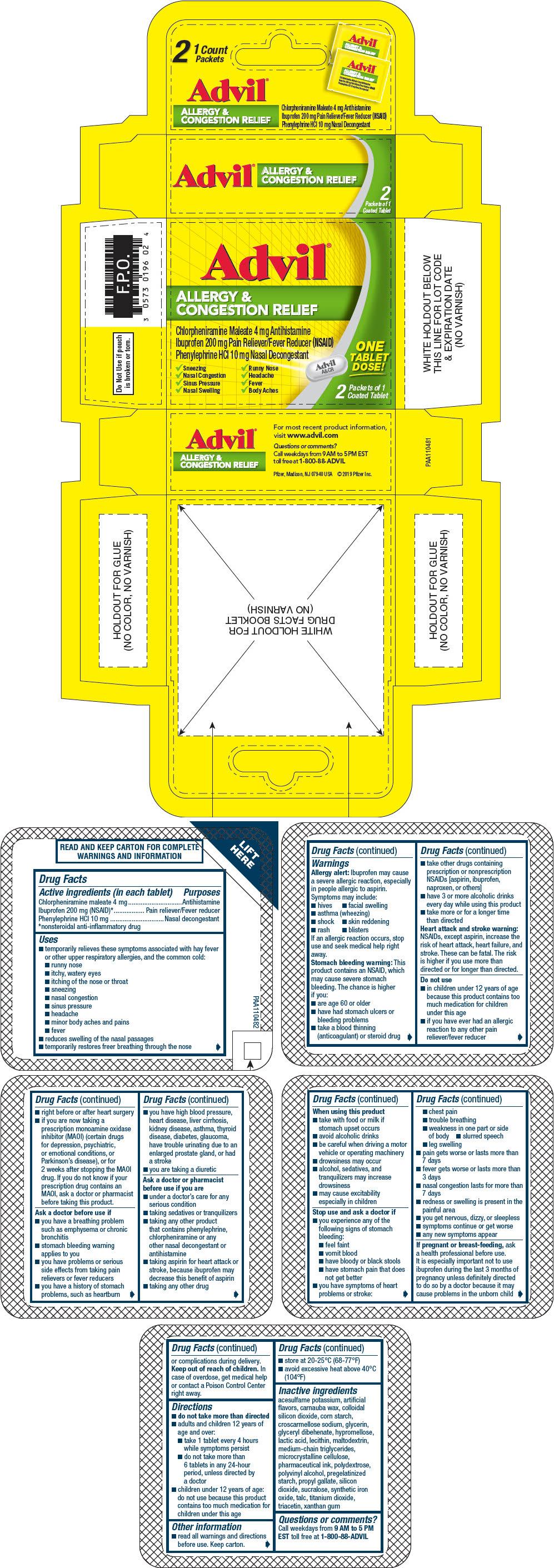 PRINCIPAL DISPLAY PANEL - 2 Tablet Packet Carton