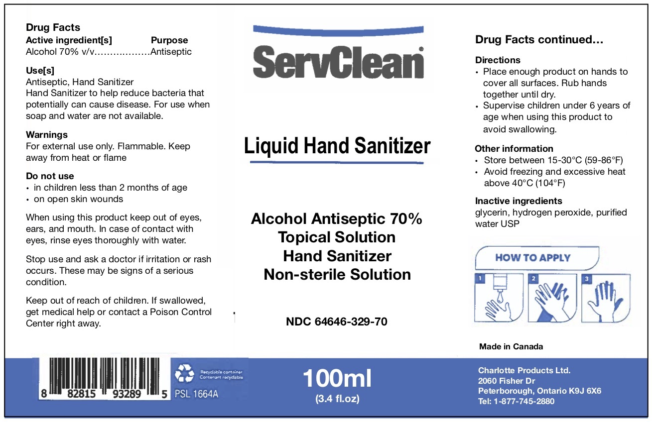 Liquid Hand Sanitizer 100 ML NDC: <a href=/NDC/64646-329-70>64646-329-70</a>